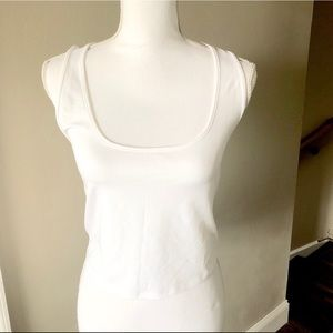 *NWT* Express White Stretch Crop Top